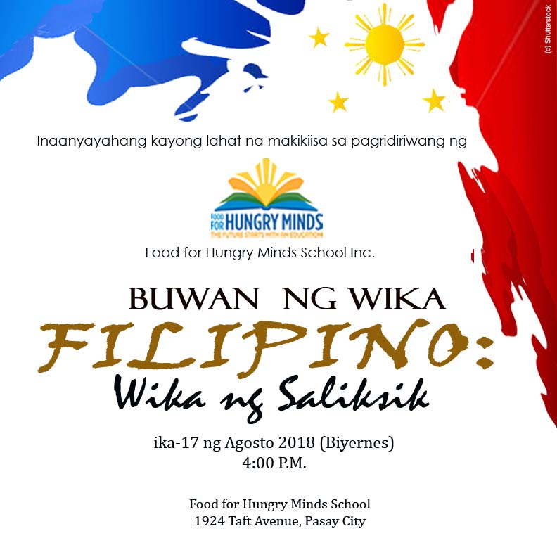 come and take part in the celebration of our filipino language